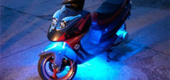 Как сделать подсветку велосипеда или скутера?